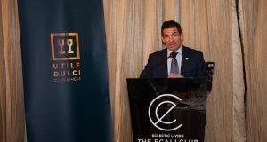 Ο Μιχάλης Τσαούτος στη συνάντηση επιχειρηματιών του club UTILE DULCI 5572f30e0b6